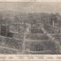 Aerial photograph showing the devastation of San Francisco as a result of the 1906 earthquake and fire