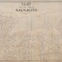 Map of the town of Sausalito