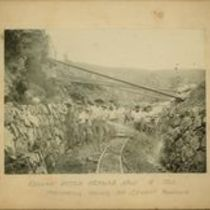 Photograph of work underway on the Koolau aqueduct project