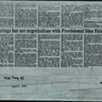 'Meetings but not negotiations with Provisional Sinn Féin', press cutting from The Times