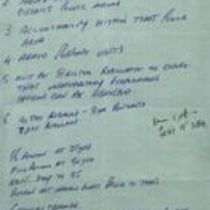 Handwritten notes on the Police Service of Northern Ireland