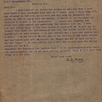 Letter to M. M. O'Shaughnessy from C. E. Moore
