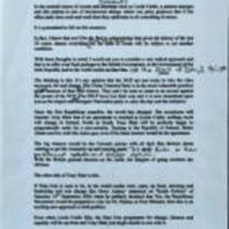 Original typescript drafts of a letter from Brendan Duddy to Martin McGuinness