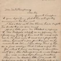 Letters to M. M. O'Shaughnessy from D. Center