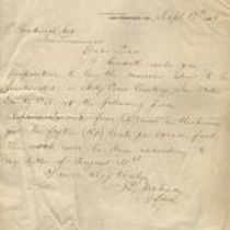 Letter to M. M. O'Shaughnessy from J. S. Jackson