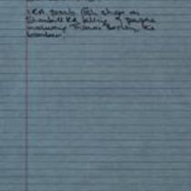 Éamonn Downey's notes contextualising events of the time