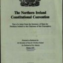 Printed leaflet 'The Northern Ireland Constitutional Convention'