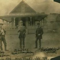 Photograph of W. Molony, M. M. O'Shaughnessy and the Real Estate Agent, Smith