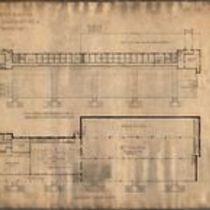 1/16 scale sketch plans for proposed grand stand at a new race track