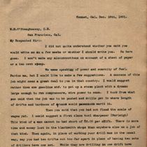 Letter to M. M. O'Shaughnessy from R. W. Weldon