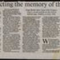 'Respecting the memory of the 10 who died' by Joan Byrne, press cutting from The Irish Times