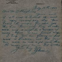 Letter to M. M. O'Shaughnessy from E. J. Cotton