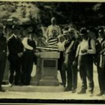 Photograph at the dedication of the Pittman plaque