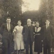 Photograph of M. M. O'Shaughnessy's younger brother Paddy with his family