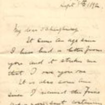 Handwritten letter to Michael M. O'Shaughnessy from Richard T. Condon