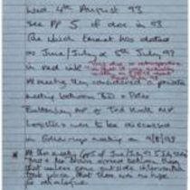 Handwritten notes by [Éamonn Downey] excerpting from 'The Narrative' and other material