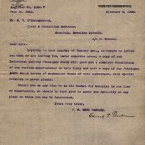 Letter to M. M. O'Shaughnessy from Edward P. Decker