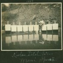 Photograph of weir, part of Koolau aqueduct project
