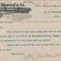 Telegram from Gus Umbsen to M. M. O'Shaughnessy