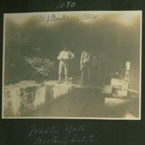 Photograph of waste gate, part of Koolau aqueduct project