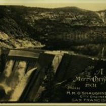 M M O'Shaughnessy personalised Christmas card for 1931