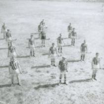 Photograph of the Kilkenny team in formation on the pitch in New York.