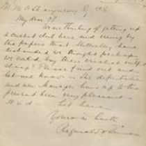 Letter to Michael M. O'Shaughnessy from Reginald N. [Tenman]