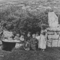 Killeany Holy well station and Young Natives, Aranmore