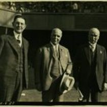 Photograph of M M O'Shaughnessy and two other men