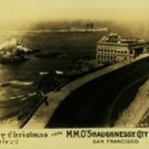 M M O'Shaughnessy personalised Christmas card for 1922