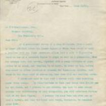 Letter to M. M. O'Shaughnessy from C. W. Fielding