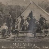 Photograph captioned 'Sunday Guests at Mill Valley'