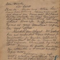 Letter to Healy from M. M. O'Shaughnessy