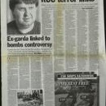 Press cutting containing two articles from Ireland on Sunday