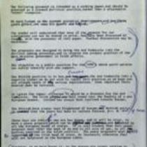 Memo 'A working paper on a peace initiative to be made by the Ard Comhairle'