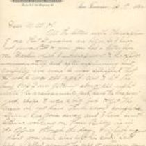Letter to M. M. O'Shaughnessy from Caleb Ellison