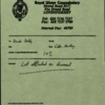 Telefax message from Eddie Armstrong RUC to Brendan Duddy