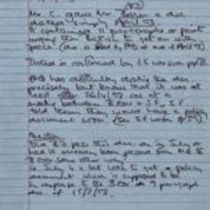 Handwritten notes by [Éamonn Downey], excerpting from 'The Narrative'