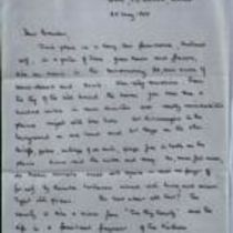 Original holograph letter from Michael Oatley