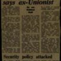 'Security Policy Attacked', press cuttings