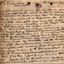 Letter to Major W. J. Collins from M. M. O'Shaughnessy