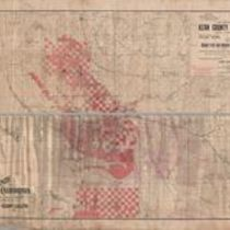 Fragment of a map of the Rosedale Colony, Kern County
