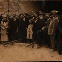 Photograph of the opening ceremony of Twin Peaks Tunnel