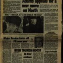 'Adams appeals for a new move on North', press cutting from the Irish Press