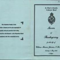 Printed copies of funeral service programme