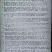 Photocopies of list entitled 'A police service'