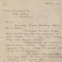 Letter to M. M. O'Shaughnessy from H. P. Winslow