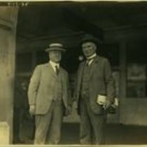 Photograph of M M O'Shaughnessy and another man