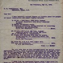 Letter to M. M. O'Shaughnessy from F. F. Barbour